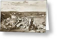Mike Noon Monterey Whaler On Montereys Wharf  Circa 1890 Greeting Card