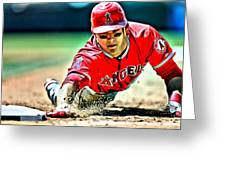 Mike Trout Painting Greeting Card