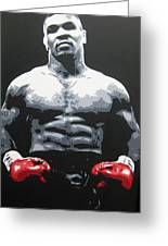 Mike Tyson 10 Greeting Card