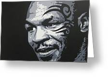 Mike Tyson 11 Greeting Card
