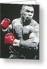 Mike Tyson 2 Greeting Card