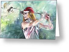 Miki Self Portrait Golfing Greeting Card