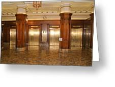 Milam Building Elevators Greeting Card