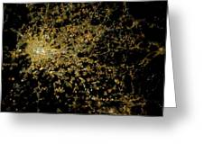 Milan At Night From Space Greeting Card