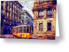 Milan Tram Greeting Card