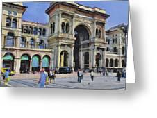 Milano Dome Square 1 Greeting Card