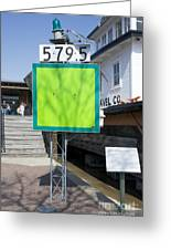 Mile Marker 579.5 Greeting Card