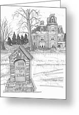 Mile Marker And Victorian Greeting Card