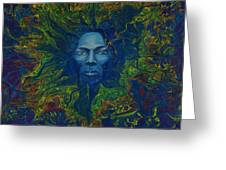 Miles. Aura. Into Creation Greeting Card