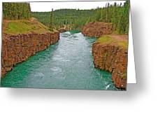 Miles Canyon In Whitehorse-yt Greeting Card