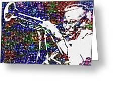 Miles Davis Greeting Card by Jack Zulli