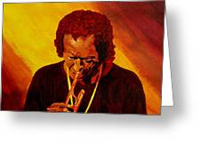 Miles Davis Jazz Man Greeting Card