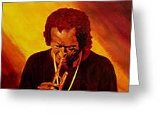 Miles Davis Jazz Man Greeting Card