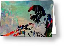 Miles Davis Jazzman Greeting Card