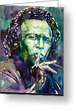 Miles Davis Watercolor Portrait.2 Greeting Card