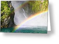 Milford Sound Greeting Card by Tom Gowanlock