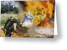 Military Flame Thrower Photo Art 02 Greeting Card