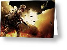 Military Our Heroes Greeting Card