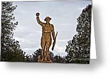 Military Soldier Memorial Greeting Card