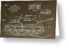 Military Tank Patent Greeting Card