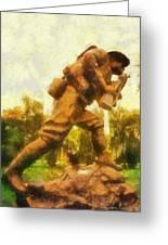 Military Ww I Doughboy 01 Photo Art Greeting Card