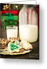 Milk And Cookies Greeting Card