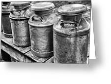 Milk Cans Greeting Card