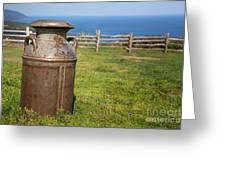 Milk Churn Greeting Card