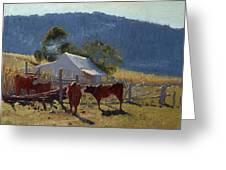 Milking Time. Araluen Valley Greeting Card