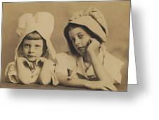 Milkmaid Sisters Greeting Card