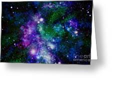 Milky Way Abstract Greeting Card