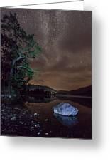 Milky Way At Gwenant Greeting Card
