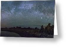 Milky Way At Mono Lake Greeting Card
