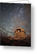 Milky Way Clouds Over The Mount Evans Observatory Greeting Card by Mike Berenson