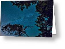Milky Way Framed Trees Greeting Card