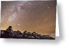 Milky Way Galaxy Over Teton Mountains Greeting Card