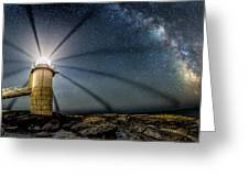 Milky Way Over Marshall Point Greeting Card