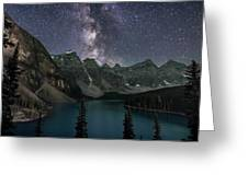 Milky Way Over Moraine Lake Greeting Card