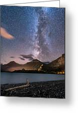 Milky Way Over Prince Of Wales Hotel Greeting Card