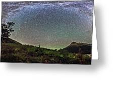 Milky Way Over Red Rock Canyon Greeting Card