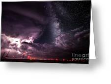 Milky Way Storm Greeting Card