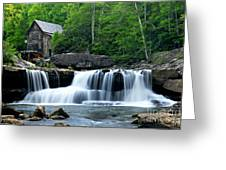 Mill And Waterfall Greeting Card