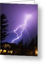 Mill Creek Lightning Greeting Card