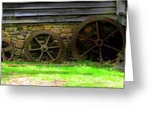 Mill Gears Greeting Card