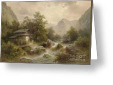 Mill On The Mountain Greeting Card