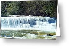 Mill Shoals Waterfall During Flood Stage Greeting Card