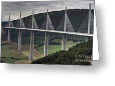 Millau Viaduct In France Greeting Card