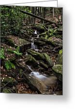 Millcreek Road Waterfall Greeting Card