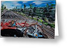 Mille Miglia On Board With Peter Collins Greeting Card