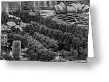 Millenium Park From Above Greeting Card